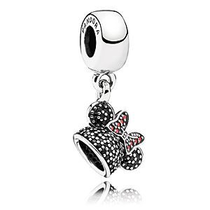 Minnie Mouse ''Minnie Sparkling Ear Hat'' Charm by PANDORA | Disney Store The Minnie Mouse charm version of the famous ''ear hat'' is…
