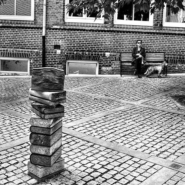 So many books, so little time.  Love this public art sculpture at Maastricht University, Faculty of Arts and Social Sciences. Photo by Stefan