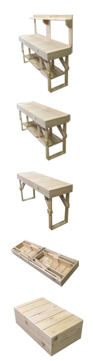 We are excited to introduce this exclusive sneak peek of our upcoming Outdoor Folding Table woodworking plan. This neat table is designed to be a multi purpose table with a variety of usages ranging from grilling, food serving, bar, potting station, and more!