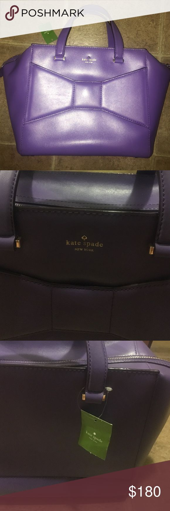 Purple Kate Spade purse for sale!!! Oversized purple book bag or purse! Perfect for a summer bag or a work bag. Kate Spade with storage bag and tags. kate spade Bags Laptop Bags