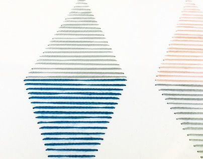 "Check out new work on my @Behance portfolio: """"Pyramids Pt.III"", 2015 - Handmade wallart"" http://on.be.net/1OOdpDr"