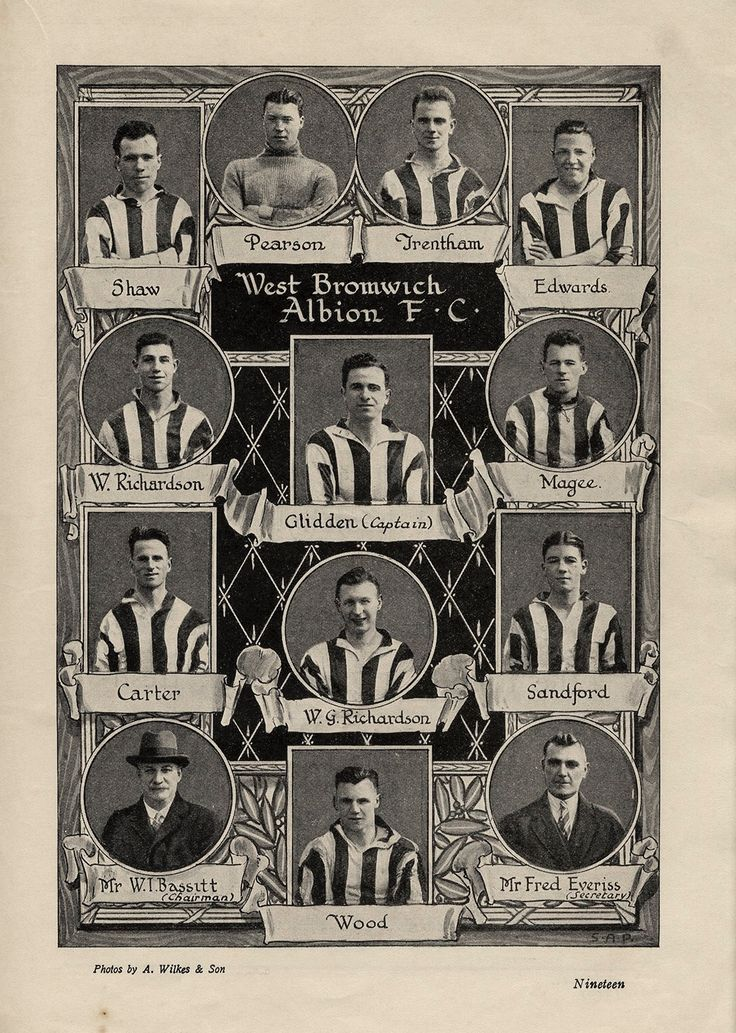 West Brom team pictures for the 1931 FA Cup Final.