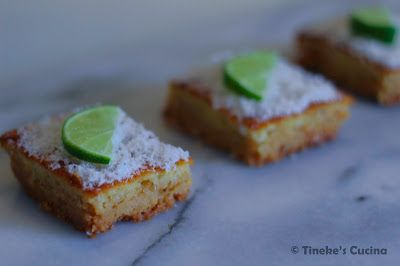 Tineke's Cucina: Sugarfree lime bars (suikervrije limoenrepen)