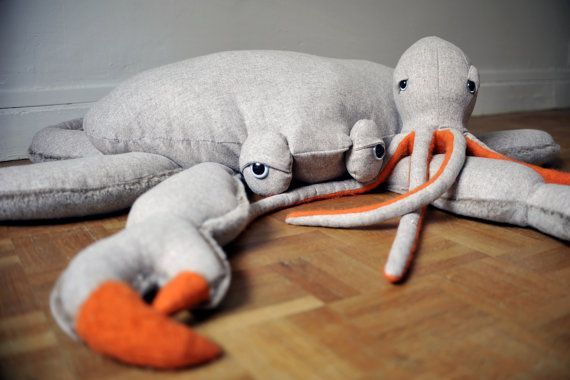 XXL-Krabbe 0 0 Plüsch Wolle und Kunstfell von BigStuffed auf Etsy