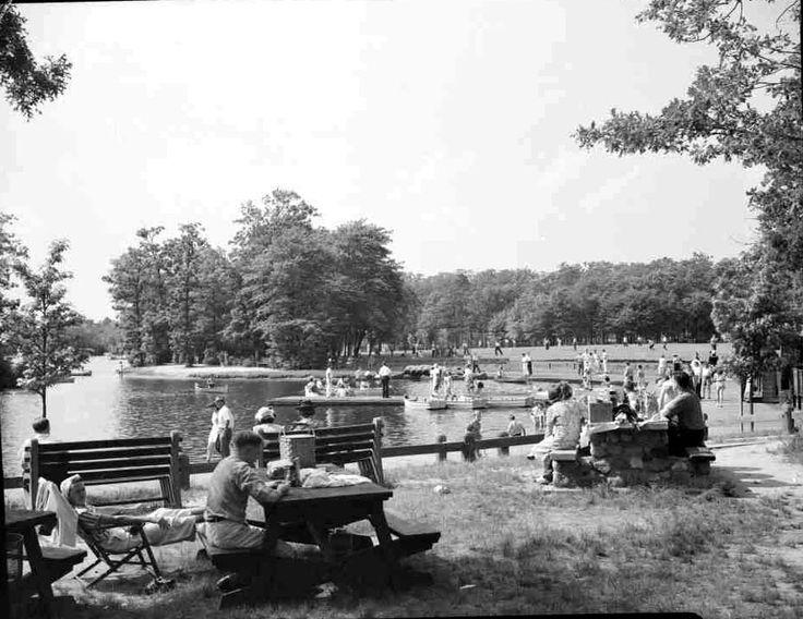 Belmont Lake State Park Circa 1940 Image Credit New York