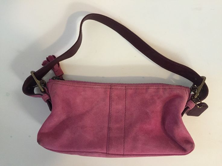 designer coach bags z1dh  Pink coach suede purse by StyleCatch on Etsy https://wwwetsy
