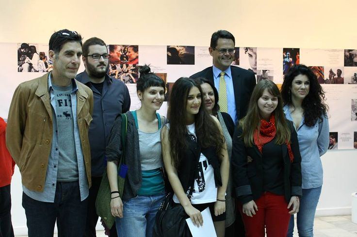 At successful closing of HAVING THEIR SAY photo exhibition in Athens. The Norwegian ambassador to Greece and Cyprus, Mr.Sjur Larsen with curator Maria Sfyraki, the Photojournalist Yannis Kontos and the winners of the open call competition. EEA and Norway Grants well used! Next stop of the exhibition: Thessaloniki.