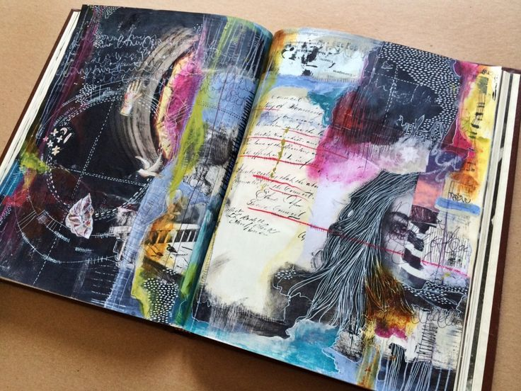 connections - art journal - by bun // artist: roxanne coble