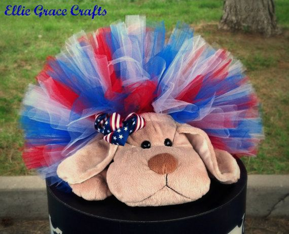 4th Of July Dog Tutu:  RED, WHITE, & BLUE Patriotic Dog Tutu on Etsy, $10.00