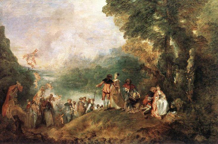 Watteau, Embarkation to Cythera (1717)