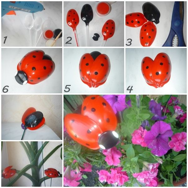 Wonderful DIY Cute Plastic Spoon Ladybug | WonderfulDIY.com