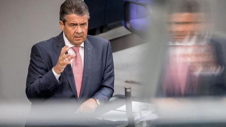 Außenminister Sigmar Gabriel nutzte seinen Auftritt für eine Wahlkampfrede