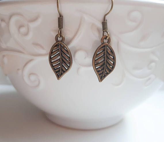 Check out this item in my Etsy shop https://www.etsy.com/ca/listing/576546705/bronze-leaf-earrings