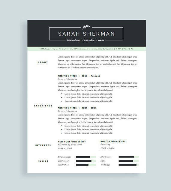 44 best Resume Templates images on Pinterest Cover letters - resume templates pages