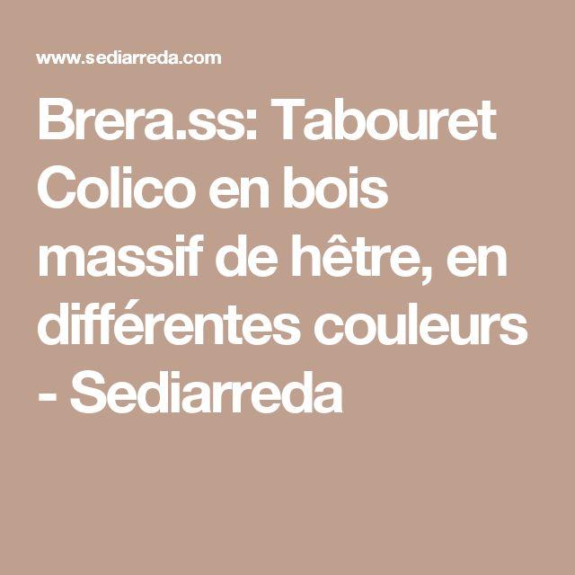 Brera.ss: Tabouret Colico en bois massif de hêtre, en différentes couleurs - Sediarreda