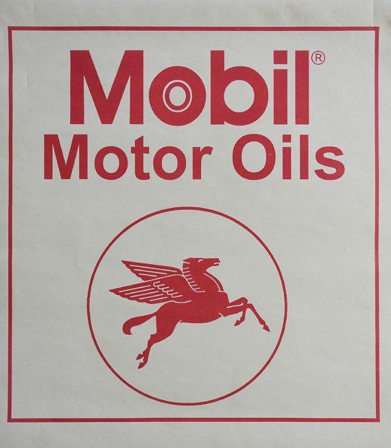 1970s Pegasus Mobil Oil Advertisement  Original by OutofCopenhagen