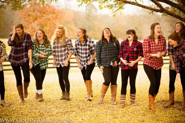Bridal Party in Flannel