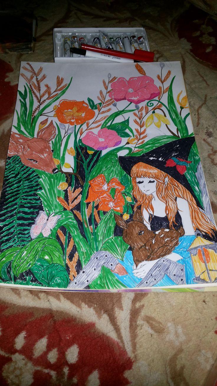 Pin oleh Liani Liani di Art,gambar,sketsa,drawing,fantasy