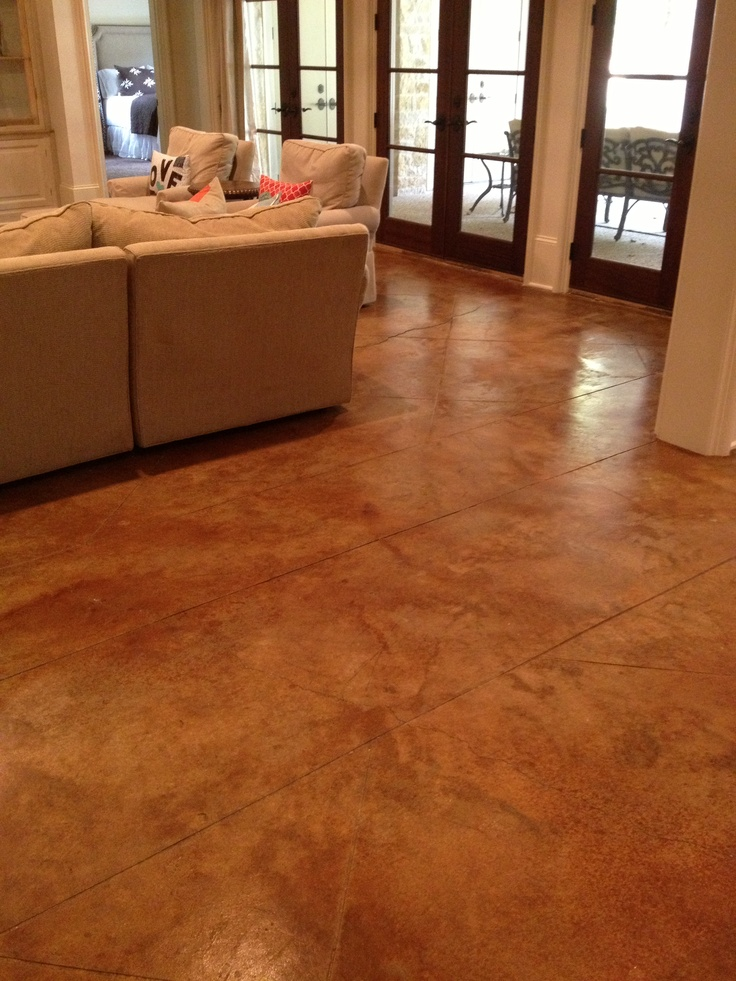 Stained concrete concrete floors and floors on pinterest for At floor or on floor