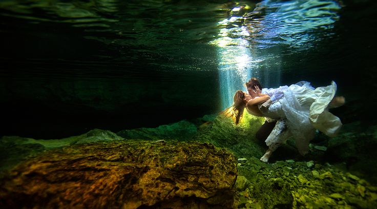 Spectacular water dance in the incredible cenotes found only in Riviera Maya Mexico. http://bit.ly/1VCyPpX #lizmooreweddings