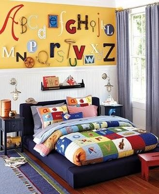 ALPHABET WALL DESIGN                             This will be a must for Pepper's room. @Sunne Gregg
