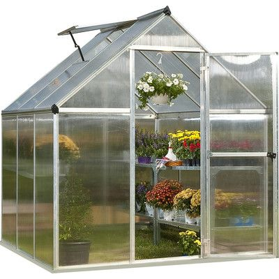 Palram Nature Twin Wall 6 Ft. W x 6 Ft. D Plastic Polycarbonate Greenhouse & Reviews | Wayfair