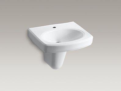 Ada lav kohler k 2035 1 0 pinoir wall mount - Kohler wall mount bathroom sink faucet ...