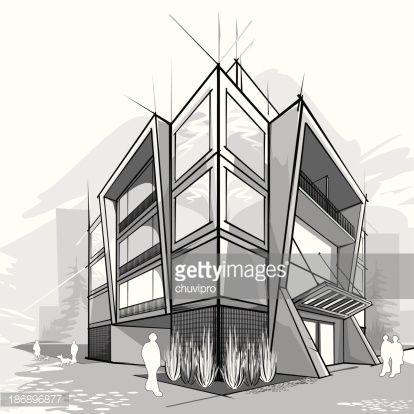 17 bsta ider om Edificios Dibujo p Pinterest  Dibujos de