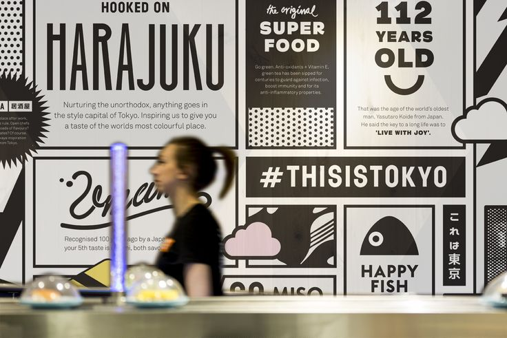 Paul Belford Ltd has created a new visual identity for restaurant chain Yo! Sushi, which features kanji characters and Tokyo-inspired graphics
