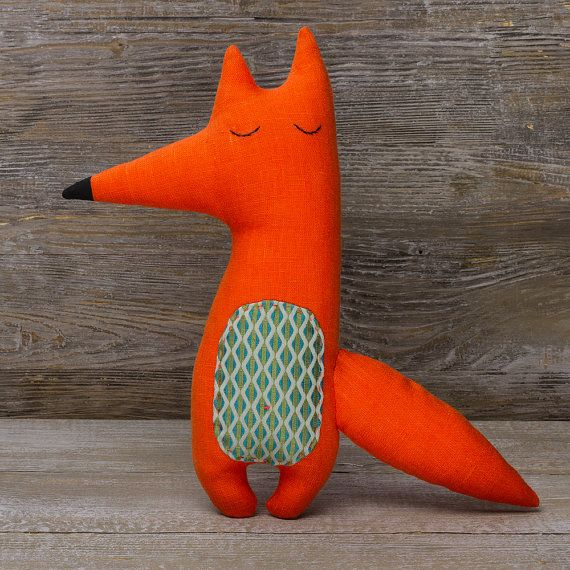 Tricky Fox Stuffed animals Rag doll Gift for child by PugovkiTM