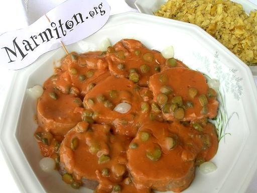 Langue de boeuf sauce cornichons - Recette de cuisine Marmiton : une recette