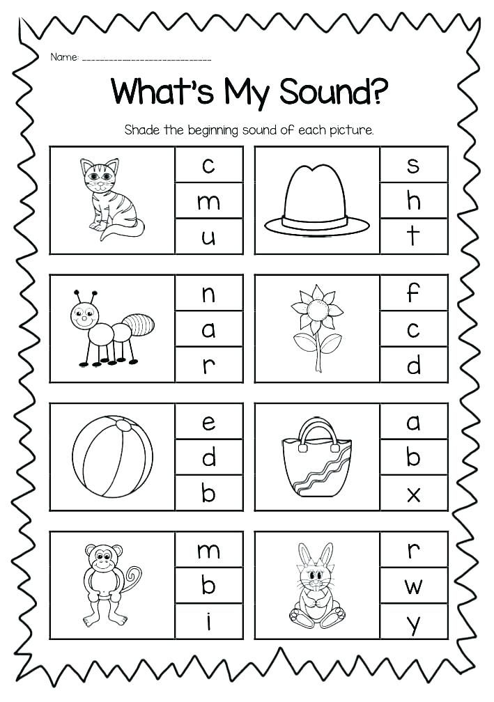 Free Printable Vowel Digraph Worksheets Beginning Sounds Worksheets,  Kindergarten Phonics Worksheets, Phonics Kindergarten