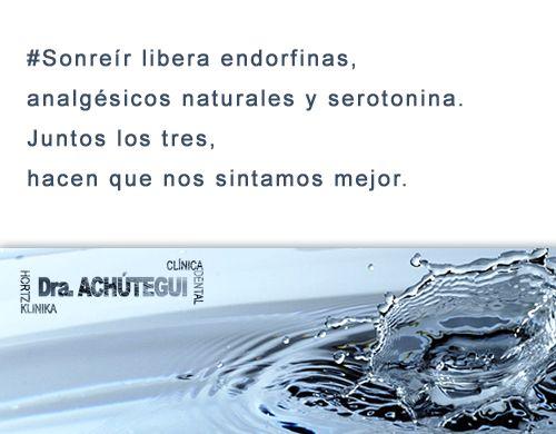 #Sonreír libera endorfinas, analgésicos naturales y serotonina. Juntos los tres, hacen que nos sintamos mejor.