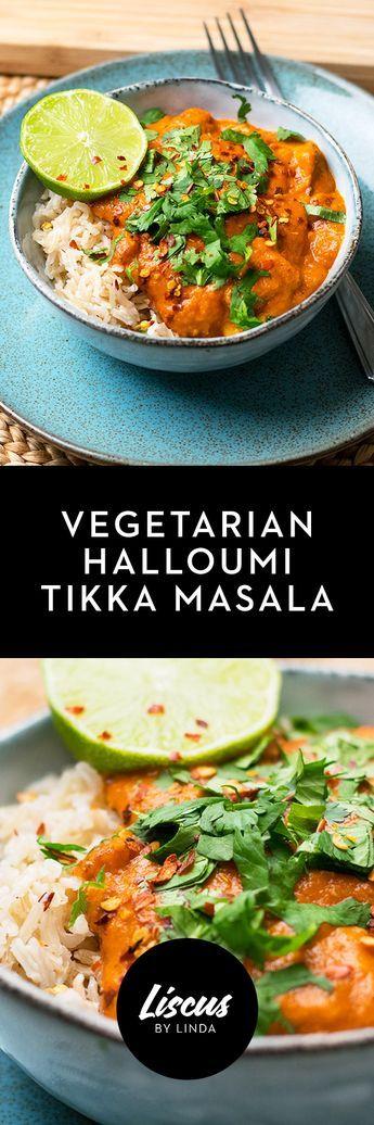 Vegetarian Halloumi Tikka Masala