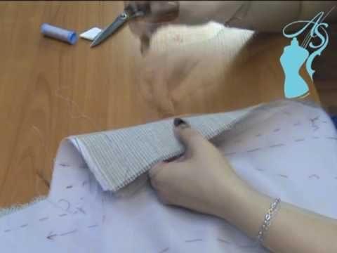 Выстегивание лацкана с бортовкой. Ролик