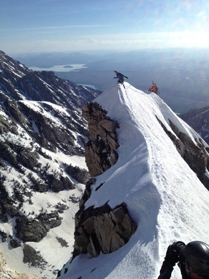 """On the East Ridge of Buck Mountain with @Exum Mountain Guides during their """"Live to Ski"""" Camp!"""