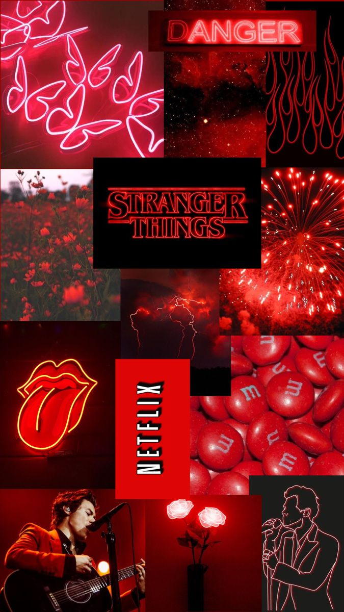 Red Aesthetic Collage In 2021 Red Aesthetic Red Wallpaper Cute Art
