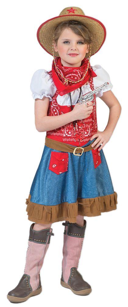Der Wilde Westen kann kommen! Egal ob Karneval, Mottoparty oder Kindergeburtstag – mit diesem Kostüm wird Ihr kleines Mädchen zu einem richtigen Cowgirl!