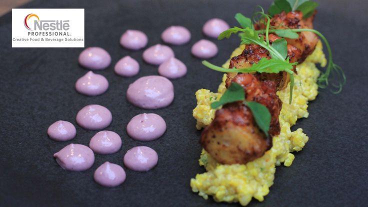 Michelin star Peruvian chef Robert Ortiz cooks sea bass, scallops and oc...
