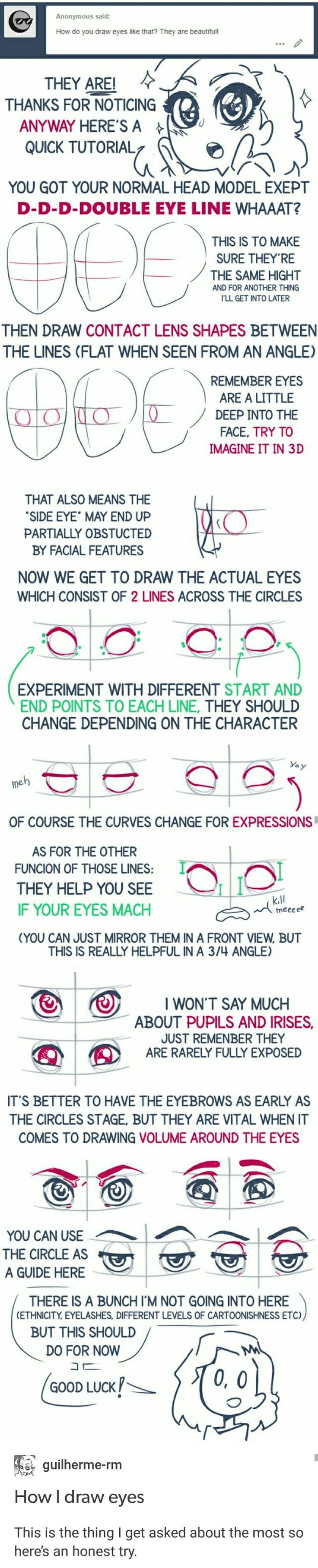 How to draw eyes tutorial eye