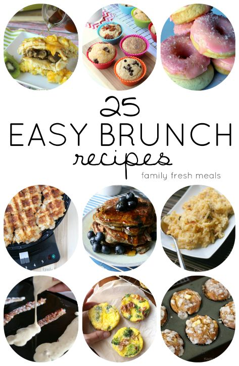 25 EASY BRUNCH RECIPES -  Family Fresh Meals -