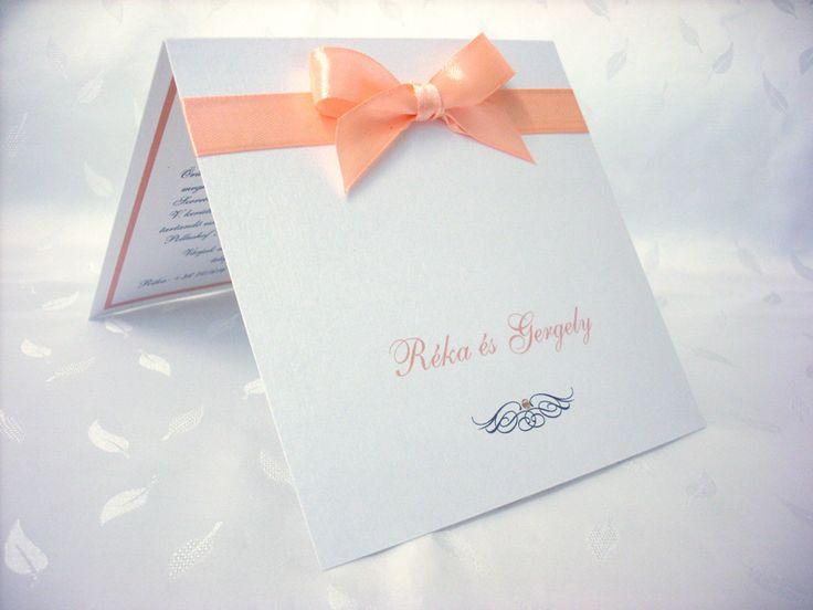 szalagos esküvői meghívó 048.01