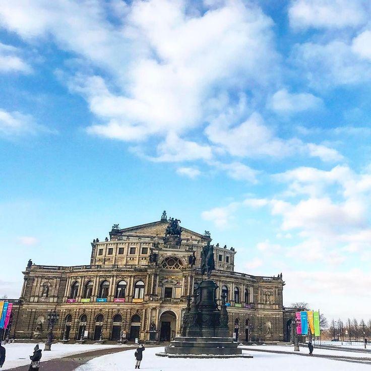 Большой Дрезденский Оперный Театр   #дрезден #саксония #германия #январь #путешествие #germany #deutschland #januar #2017 #gavri #travel #sachsen #dresden