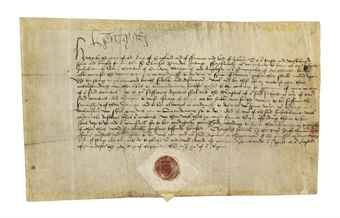 HENRY VIII (1491-1547), king of England and Ireland. Document signed ('Henry R'), Windsor, 16 September 1512, letters patent to Sir Charles Brandon, ordering him to take the musters in the counties of Carnarvon, Merioneth and Anglesey and to 'cause asmany of thaym as bee hable men for the warre to bee sufficiently furnisshed of thaire harneys and to bee always in arredynesse to doo unto us s[e]rvice under yo[u]r ledyng', any who refuse to be sent before the king and his council 'to be ...
