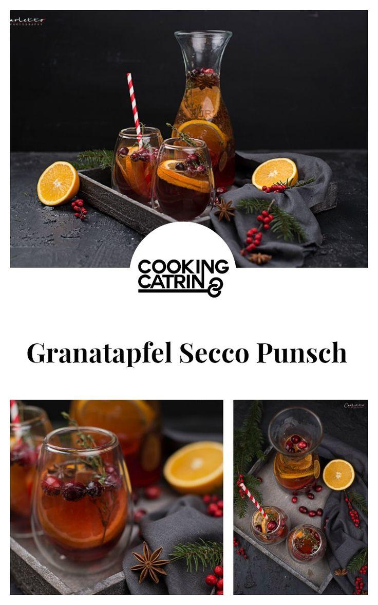 Granatapfel, Secco, Punsch, Getränk, Drink, Refresh, Cocktail, Pomegranate, glogg, winter, silvester, christmas, weinachten