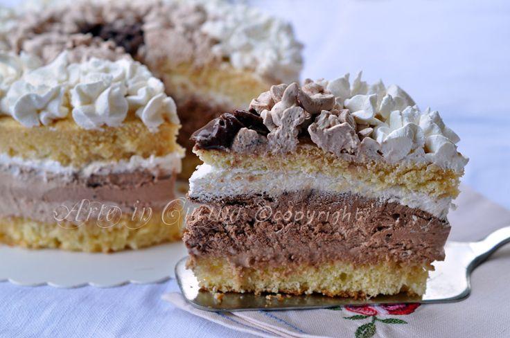 Abbraccio+di+venere+torta+alla+nutella+e+cioccolato