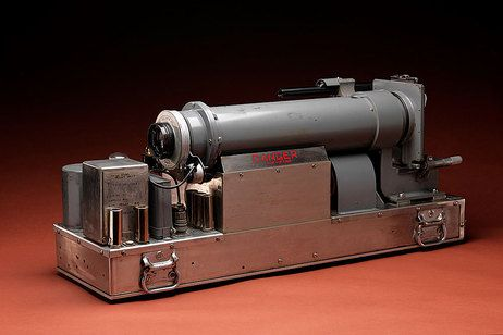 High-speed rapatronic camera, manufactured by Edgerton, Germeshausen and Grier Inc. Boston. Took the first pictures of nuclear explosions.