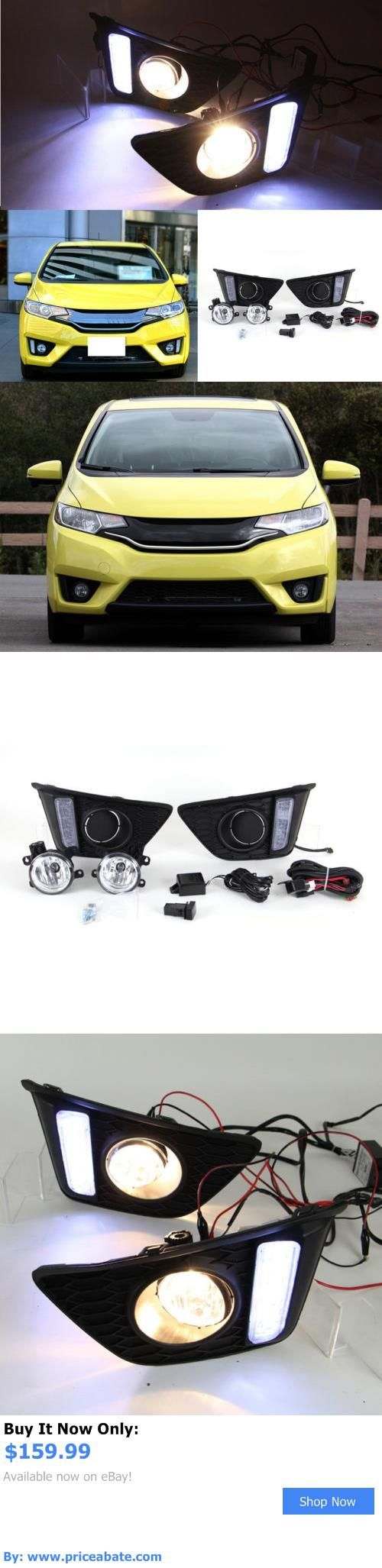 Motors Parts And Accessories: Car Bumper Led Fog Lamp+Daytime Running Light  Drl For. Honda FitMotor ...