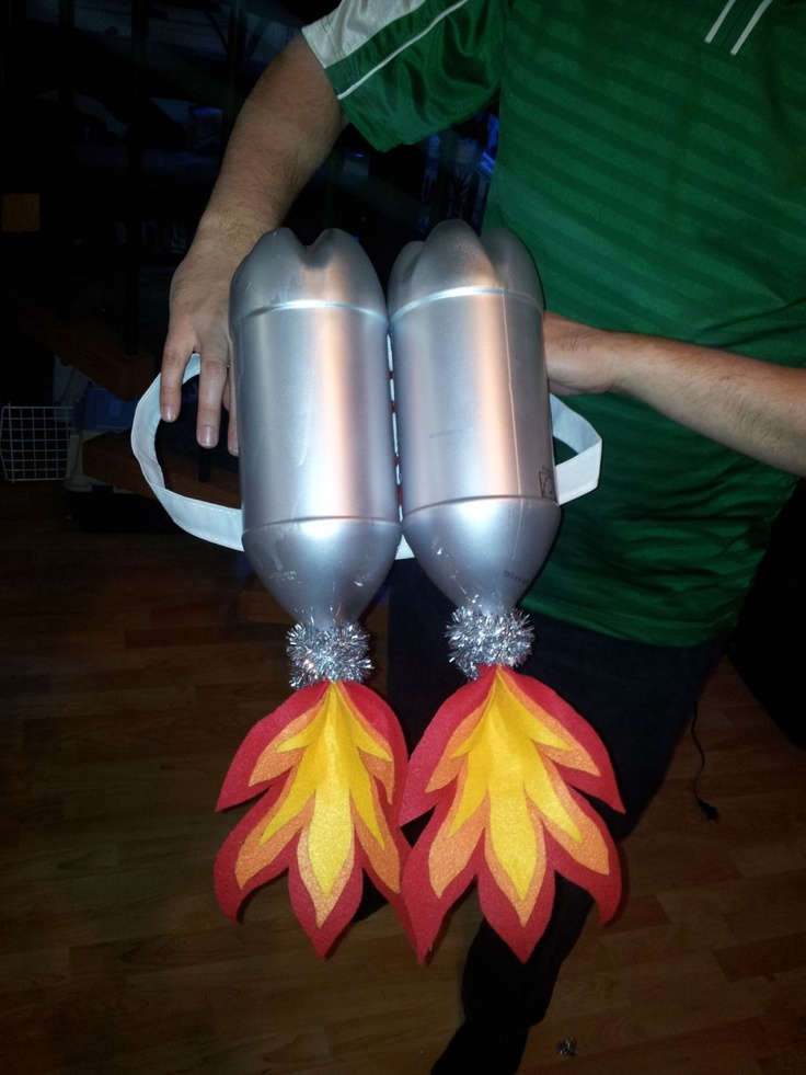 Home made jet pack--what a great costume idea!