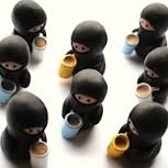 Coffee drinking ninjas! :)